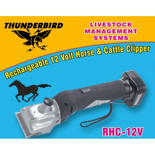 Thunderbird 12V Rechargeable Horse Clipper